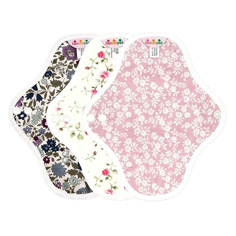 Hannahpad Washable Reuseable Eco Friendly Green Organic Cloth Pads Singapore Pantyliner Set of 3