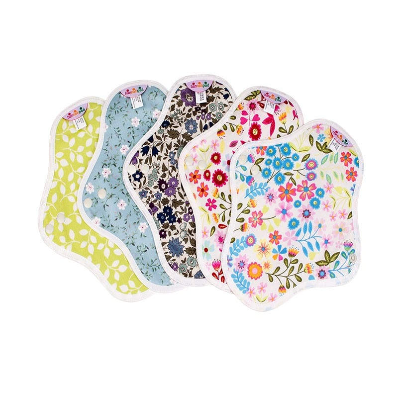 Hannahpad Washable Reuseable Eco Friendly Green Organic Cloth Pads Singapore Pantyliner Pre Menses Set of 5