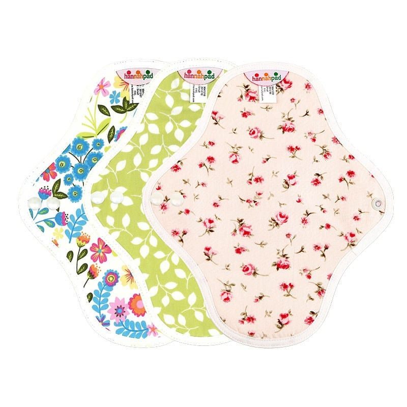 Hannahpad Washable Reuseable Eco Friendly Green Organic Cloth Pads Singapore Small Set of 3